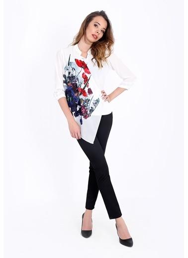 Çiçek Desenli Şifon Gömlek-Soie Design